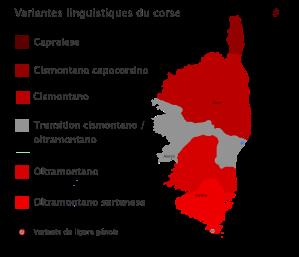 Variantes linguistiques corses