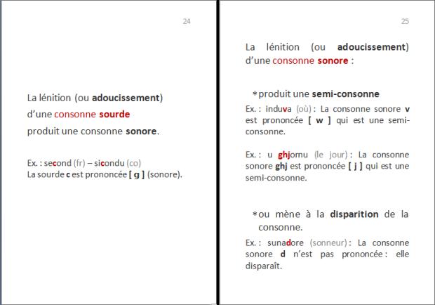 La langue corse : quelles lettres pour quels sons ? p.11